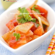蒜香番茄炒土豆片