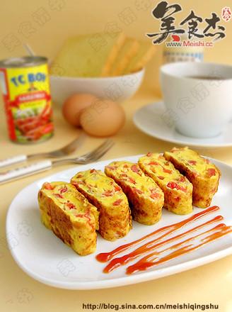 番茄火腿蛋卷的做法