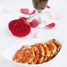 红酒汁藕饼
