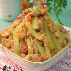 莴笋炒鸡肉