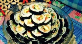 韩国紫菜包饭的做法