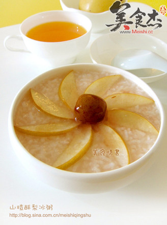 山楂酥梨冰粥的做法