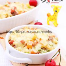 蔬菜肉丁焗饭