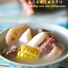 山药玉米莲藕排骨汤