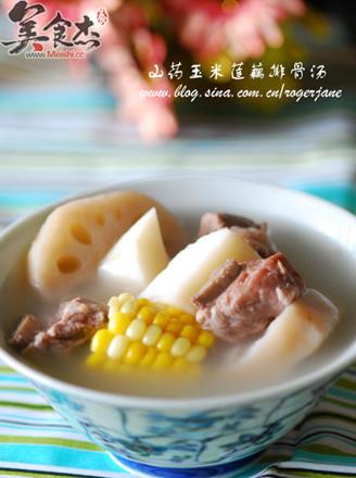 山药玉米莲藕排骨汤的做法