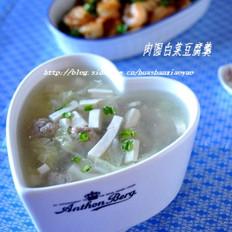 肉圓白菜豆腐羹