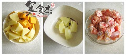 土豆南瓜炖鸡的做法图解