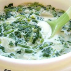 菠菜洋蔥牛奶羹