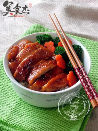日式照燒雞腿飯的做法