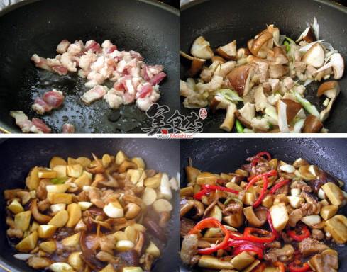 五花肉炒茭白的做法图解