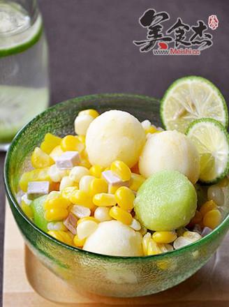 橄欖油玉米水果沙拉的做法