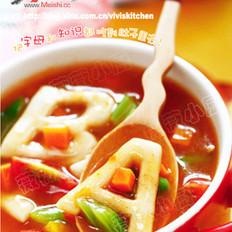蔬菜字母疙瘩汤