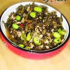 毛豆炒雪菜