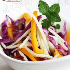 紫甘兰拌茭白