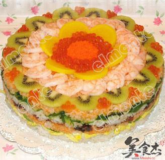 寿司蛋糕的做法