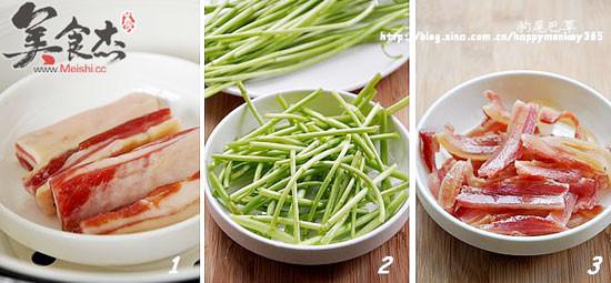腊肉炒藜蒿的做法图解