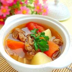 土豆番茄牛腩汤