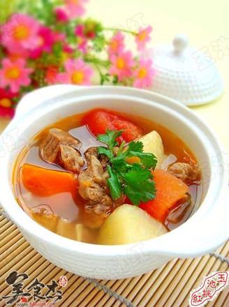 土豆番茄牛腩汤的做法