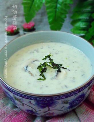 奶油蘑菇汤做法视频_奶油蘑菇汤的做法_奶油蘑菇汤怎么做_杰米230_美食杰