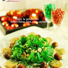 白血肠榛栗野苣沙拉