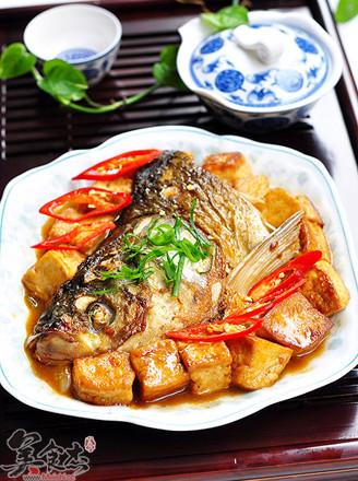 红烧鱼头豆腐的做法