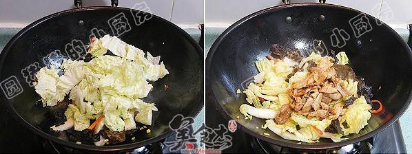 白菜猪肉炒木耳的简单做法