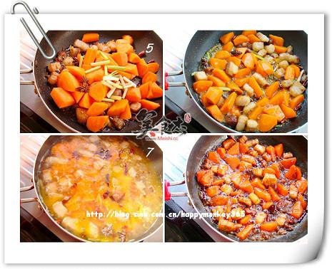 胡萝卜烧肉的家常做法