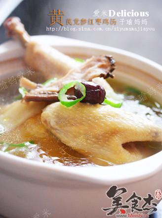 党参黄芪红枣鸡汤的做法