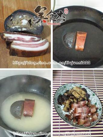 猪血丸子炒腊肉的做法图解