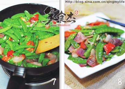 蒜香培根炒荷兰豆的简单做法