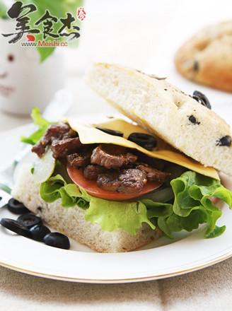 牛肉芝士三明治的做法