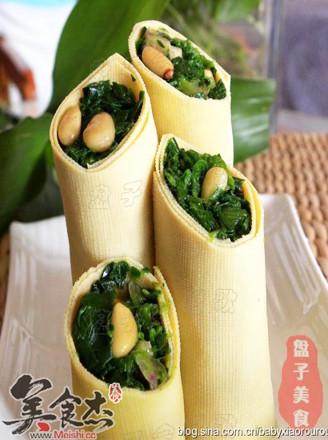 松仁菠菜竹子的做法