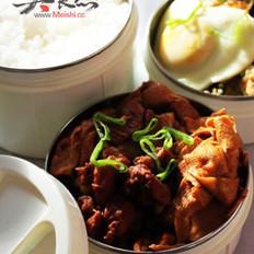 红烧肉炖干豆腐结