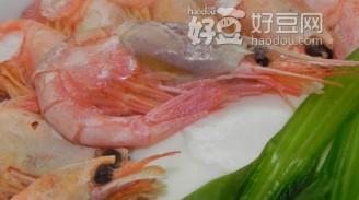 甜虾青菜面条的做法