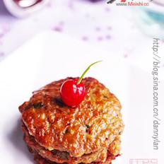 煎荸荠牛肉饼