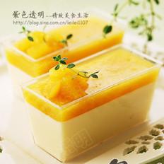 黄桃免烤布丁