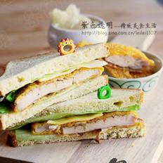煎鸡排三明治