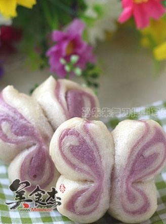 紫薯双色蝴蝶卷的做法