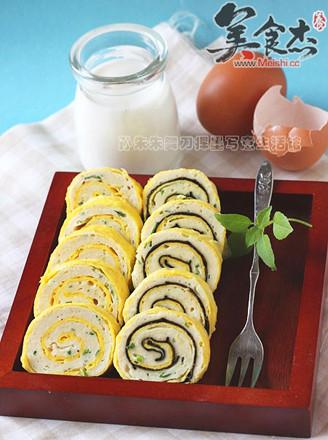 海苔肉蛋卷的做法