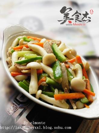 咸肉炒白玉菇的做法
