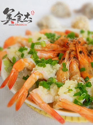 粉丝蒸海虾的做法