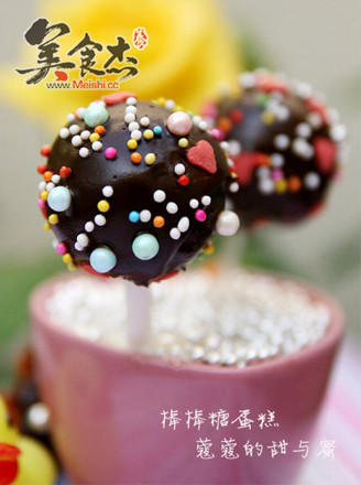 巧克力棒棒糖蛋糕的做法