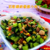 炒猪肉黄瓜丁