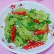 双椒炒凉瓜