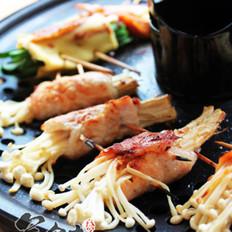 烤蘑菇肉卷