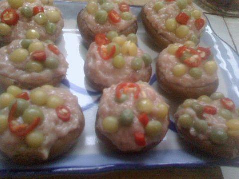 茄汁五彩香菇酿怎么做