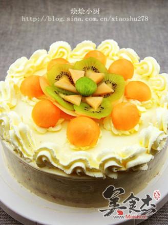 哈密瓜生日蛋糕的做法