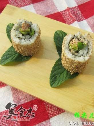 金槍魚生菜壽司的做法