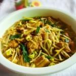 黄豆芽腐竹炖肉