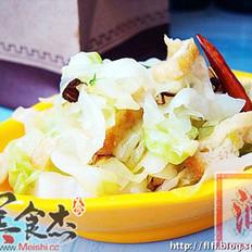 豆泡炒洋白菜